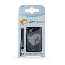 Lady Jayne Black Super Hold Contoured Bobby Pins 60 Pack