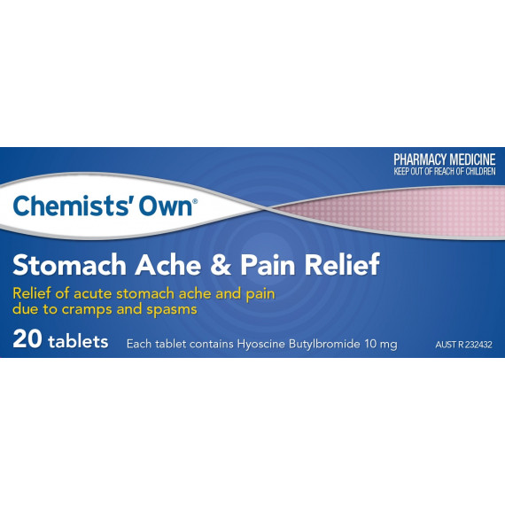 Chemists Own Stomach Ache & Pain Relief 10mg 20 Tablets