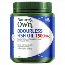 Natures Own Odourless Fish Oil 1500mg 400 Capsules