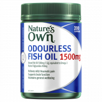 Natures Own Odourless Fish Oil 1500mg 200 Capsules