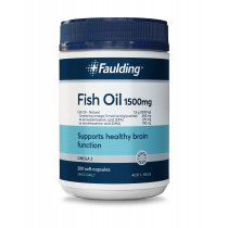 Faulding Remedies Odourless Fish Oil 1500mg 200 Capsules