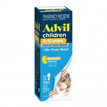 Advil Childrens Pain & Fever Relief 2-12 Years Suspension 100ml