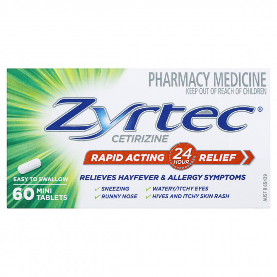 Zyrtec 10mg 60 Tablets