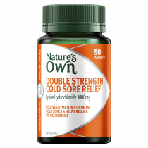 Natures Own Double Strength Cold Sore Relief 50 Tablets