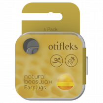 Otifleks Natural Beeswax Earplugs 4 Pack