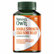 Natures Own Double Strength Cold Sore Relief 100 Tablets