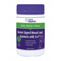 Henry Blooms Green Lipped Mussel and Turmeric With BioP 100 Capsules