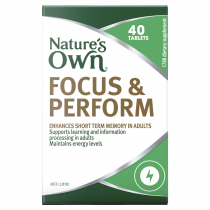 Natures Own Focus & Perform 40 Tablets