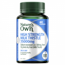 Natures Own High Strength Milk Thistle 35000mg 60 Capsules