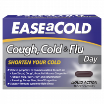 Ease a Cold Cough Cold & Flu Day Only 20 Capsules