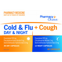 Pharmacy Choice Cold & Flu + Cough Day & Night 48 Capsules