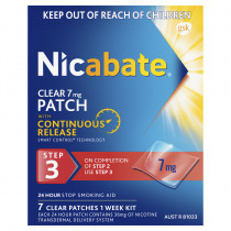 Nicabate Patches Clear 7mg 7 Days