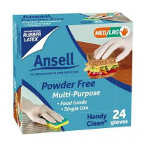 Ansell Handy Clean Multi-Purpose Disposable Gloves 24 Pack